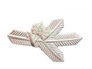 Odznak klopová strieborná vetvička