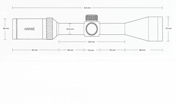 Vantage 3-9x40 (Mil Dot)