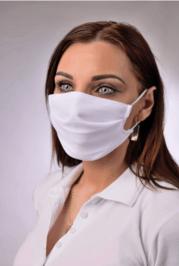 Rúško antibakteriálne na tvár B03, dvojvrstvové (vnútorná aj vonkašia strana-100% polyester s iónmi striebra)