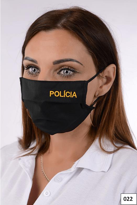 Rúško čierne bavlnené so striebrom POLÍCIA