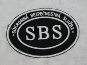 Nášivka SBS ovál malá bez SZ