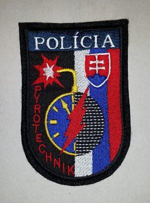 Nášivka Polícia Pyrotechnik so suchym zipsom