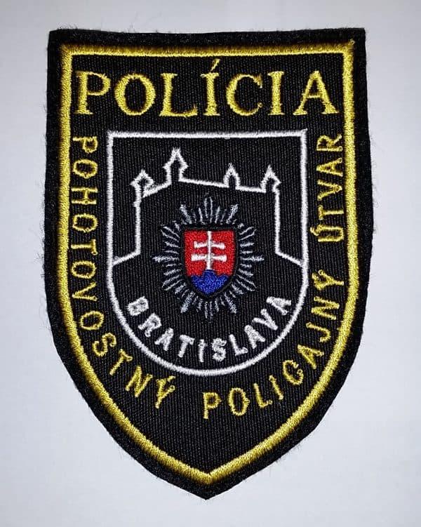 Nášivka so suchým zipsom PPÚ Bratislava