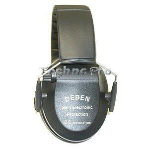 Chrániče sluchu DEBEN Slim Electronic (black) DS4121