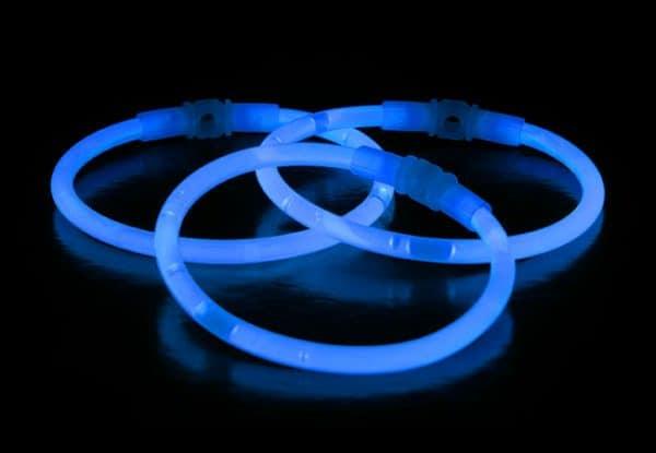 Chemické svetlo náramok - modrý