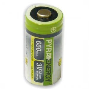 Batéria RCR123A 3V 650mAh